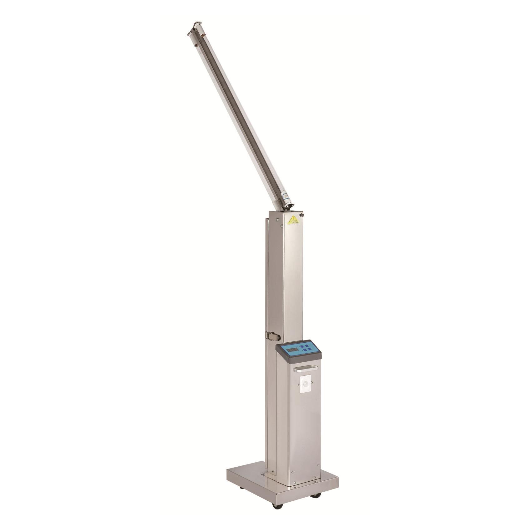 Carrello per disinfezione a lampada UV-C